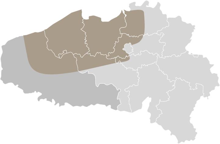 Artea werkgebied kaart